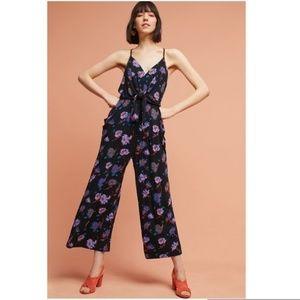 NWOT ANTHRO Willa tie-waist jumpsuit size large